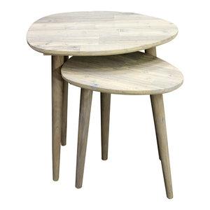 Scandi Nesting Side Tables, Set of 2