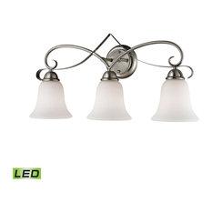 Brighton 3-Light LED Vanity Light in Brushed Nickel