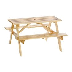"""Astonica 50100392 Junior Wooden Picnic Table for Kids, 38.6""""x38.6""""x22.3"""""""