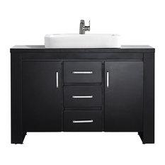 "Pascara Espresso Vanity, Drop-In Sink, 48"", Single Vanity, Without Mirror"
