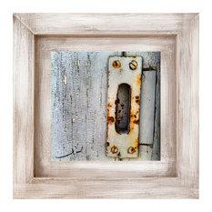 Door Handle Framed Print, 30x30 cm