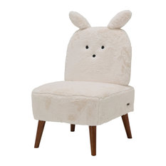 Silicon Babies Bunny Armless Chair, Powder and Capri