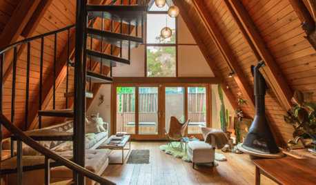 Houzz TV: A Mid-Century A-Frame Revamped for Creative Living