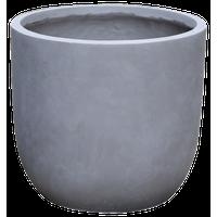 "Modern Concrete Round Cement Planter Pot, Grey, 15""x15""x15"""