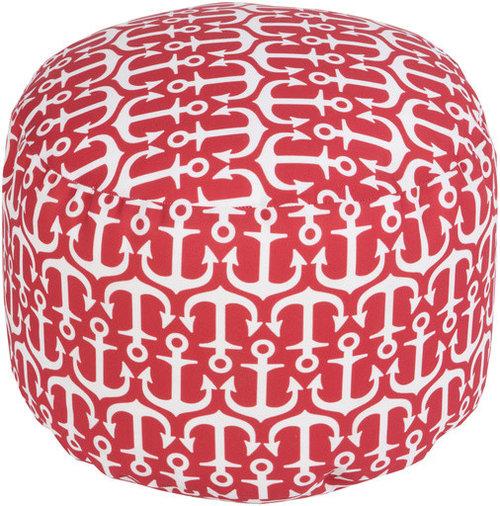 Surya Poufs- (POUF-307) - Floor Pillows And Poufs