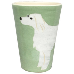 Green Animal Cups, Setter, Set of 2