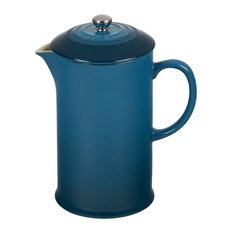 Le Creuset Deep Teal Stoneware 34 Ounce French Press Coffee Maker