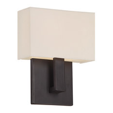 WAC Lighting Manhattan LED Wall Sconce, Brushed Bronze, 7""