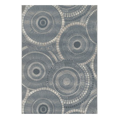Addison Freeport Indoor/Outdoor Geometric Circles Area Rug, Gray, 2'x3'