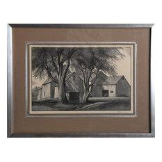 Thomas W. Nason, Barns, Woodcut