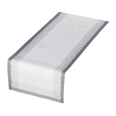 Palace Cotton Table Runner, Pearl, 150x55 cm