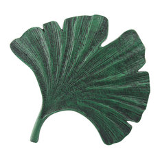 Art & Artifact Gingko Leaf Stepping Stone - Cast Iron Garden and Yard Decor