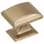 Amerock - Candler  1-1/4 in (32 mm) Length Golden Champagne Cabinet Knob - The Amerock BP29340BBZ Candler 1-1/4 in (32 mm) Length Knob is finished in Golden Champagne. With strong lines and soft curves, the Candler collection offers a look of enduring class and timeless character. Golden Champagne: raise a toast to this rich metallic finish. Warm and inviting without being brassy and featuring hints of silver in reflective light, this attractive hue elevates designs with enviable versatility. Use for a soft and elegant touch on lighter finishes or as a contrasting pop against darker finishes. Amerock offers a complete line of decorative and functional cabinet hardware, bath hardware, hook and rail and wall plates.  Amerock's award-winning decorative and functional hardware solutions have built the company's reputation for chic design accessories that inspire homeowners to express their personal style. Available in a variety of finishes and styles, Amerock offers high quality designs at affordable prices. Always Creating. Always Timeless. Always Amerock.