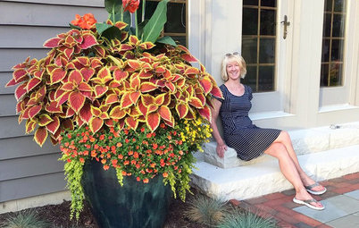 How She Did It: Huge Planters Overflow With Seasonal Color