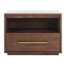Safavieh Mallory 1 Drawer Nightstand, Brown