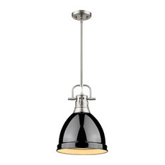 golden lighting duncan mini pendant with rod pewter pewter and black pendant
