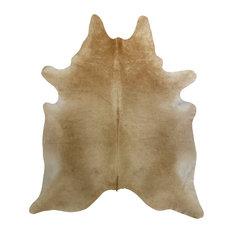 Beige Natural Cowhide, 6'x6'