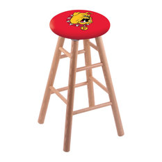 Oak Bar Stool Natural Finish With Ferris State Seat 30-inch