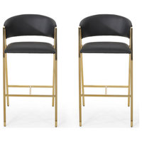 Eleanore Modern Faux Leather Barstool, Set of 2