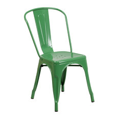 Flash Furniture Green Metal Chair