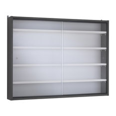 Cubo Display Cabinet, Dark Grey and White