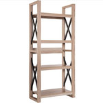 Whoselamp - 4 Shelf Bookcase Storage Shelves Plant Flower Stand Rack - Features: Store, organize and display books and other accessories in any room around the home. Crafted from high-strength chipboard with a metal frame to provide years of reliable use. Display all your precious belongings with a weight rating of 33lbs for each shelf. Add freshness and style to your living space. Suitable for anywhere around the home, even the balcony.