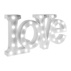 Love Table Lamp, White, Small