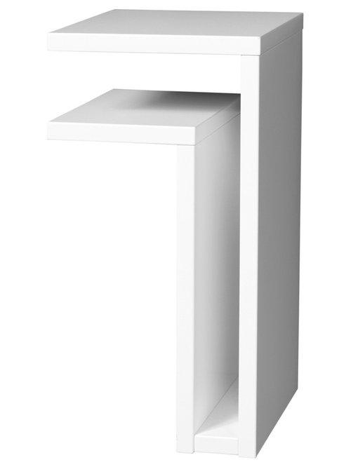F-Shelf Shelf Left Justify, White - Display & væghylder