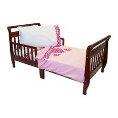 Pink Hearts Toddler Bedding Set Blanket Sheets