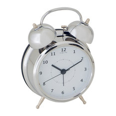 Wake Up Classic Table Clock, Silver, Medium