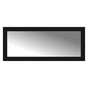 "48""x20"" Custom Framed Mirror, Smooth Black"