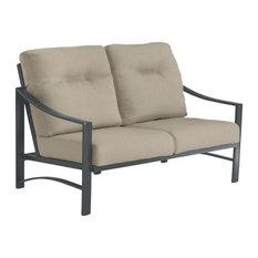 Kenzo Cushion Love Seat, Graphite Frame, Action Ash Cushion