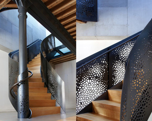 Perforated Metal Railing Houzz