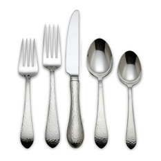 reed u0026 barton reed and barton hammered antique 40piece flatware set flatware