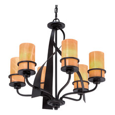 Luxury Rustic Bronze and Onyx Chandelier, UQL2414, Montevideo Collection