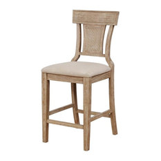 Rylan Counter Stool in Gray Wash and Brown