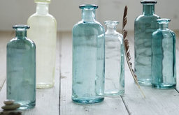Recycled Glass Jugs, Turquoise