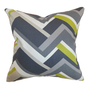 The Pillow Collection Quentin Geometric Bedding Sham Ashes Standard//20 x 26