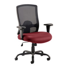 Portland Bespoke Office Chair With Colour Seat, Maroon