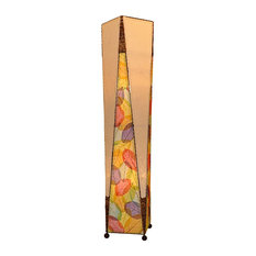 Eangee Home Design   Eangee Home Design Multicolor Banyan And Abaca  Trapezoid Floor Large Lamp