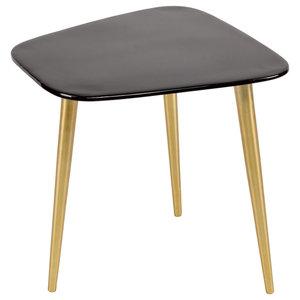 Enamel and Aluminium Tripod Side Table, Black