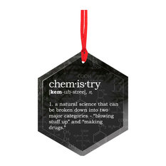Neurons Not Included™ - Chemistry Definition Funny Glass Christmas Ornament - Christmas Ornaments
