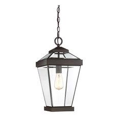 Quoizel Ravine Outdoor Lantern, Western Bronze