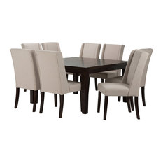 simpli home ltd sotherby 9 piece dining set natural 9piece