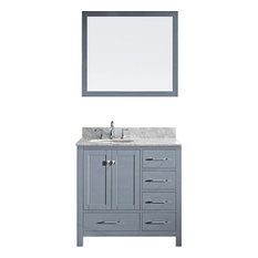 "Caroline Avenue 36"" Cabinet Only,Grey"