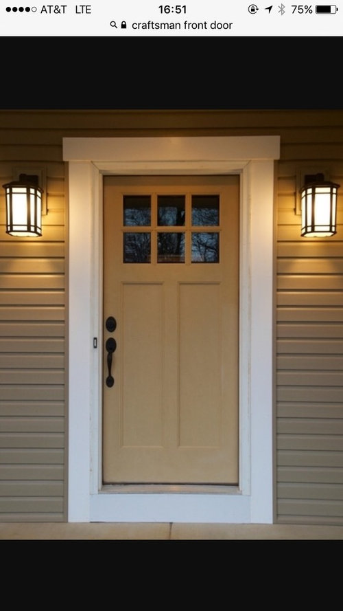 online store c3ed9 b45fe Front door craftsman style with 6 lite window