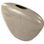 EuroLux Home - Vase Pebble Gray Black Pottery Ceramic - Product Details