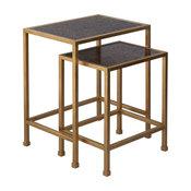 Peyton Gold Tables, 2-Piece Set