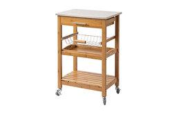 Aya Bamboo Kitchen Cart