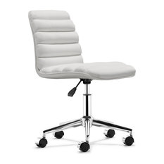 zuo modern admire office chair white office chairs armless office chair wheels